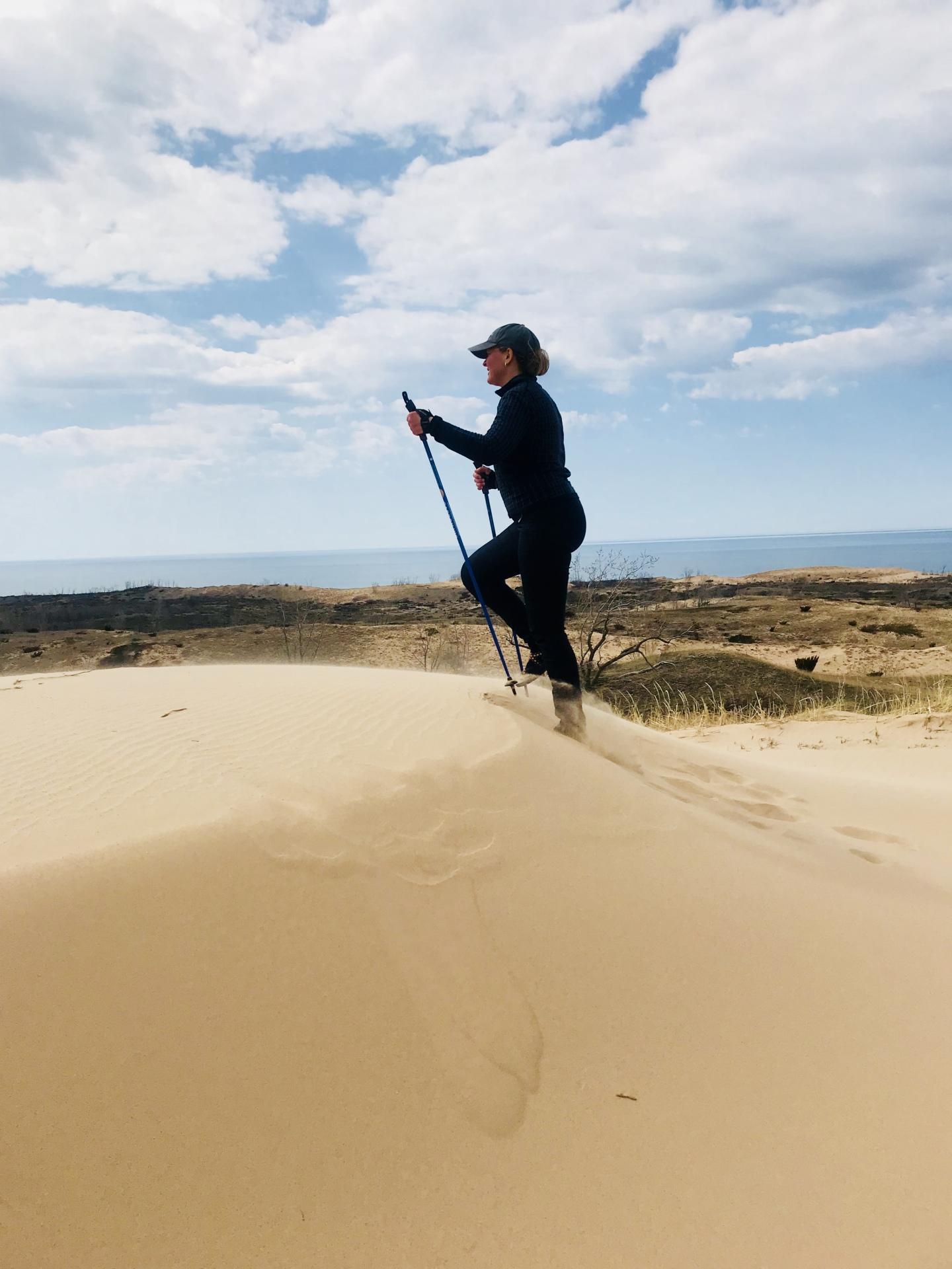 Nordic Walking and hiking Sleeping Bear Dunes