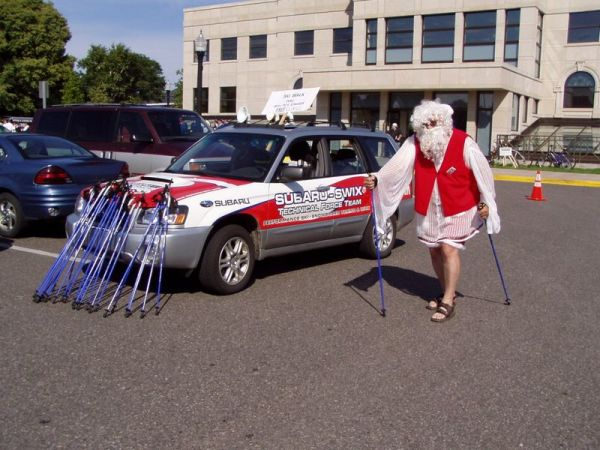 Nordic Walking Santa Claus