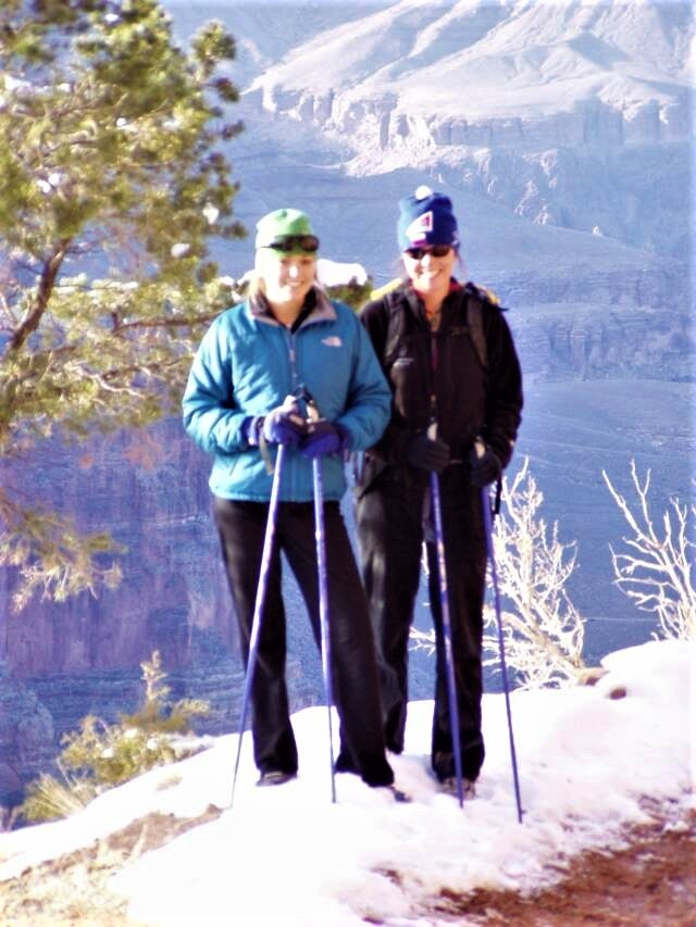 SWIX Nordic Walking Poles at home in the Grand Canyon and in the city