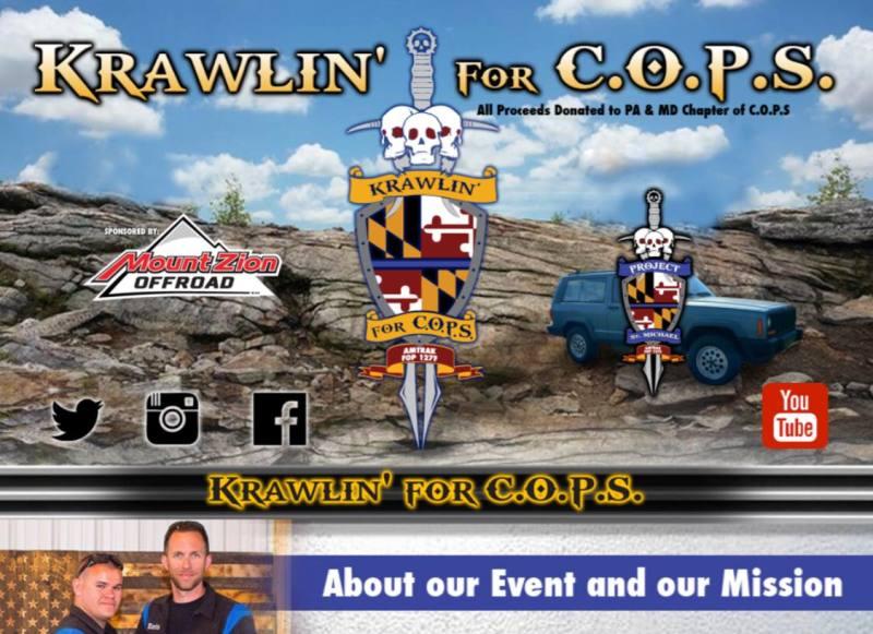 Krawlin' for COPS Memorial Blue Trail Build