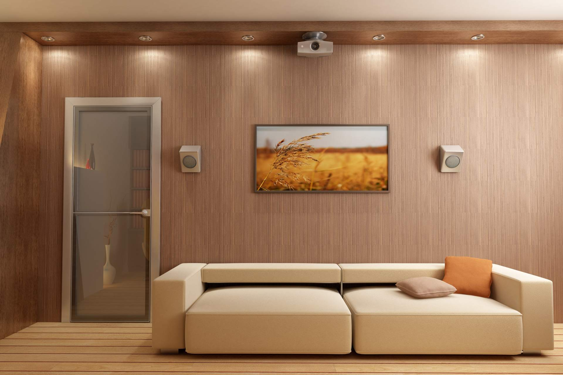 Flat Screen LED Installation