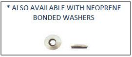 ZIP Screws Hew Washer Head Self Piercing Screw With Fillet & Neoprene Bonded Washer