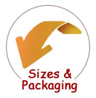 Sizes & Packaging Below Arrow