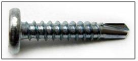Panel Clip Screws Pancake Head #3 Self-Drilling Point