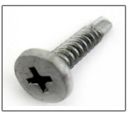 Panel Clip Screws Pancake Head Phillips Drive #3 Self-Drilling Point