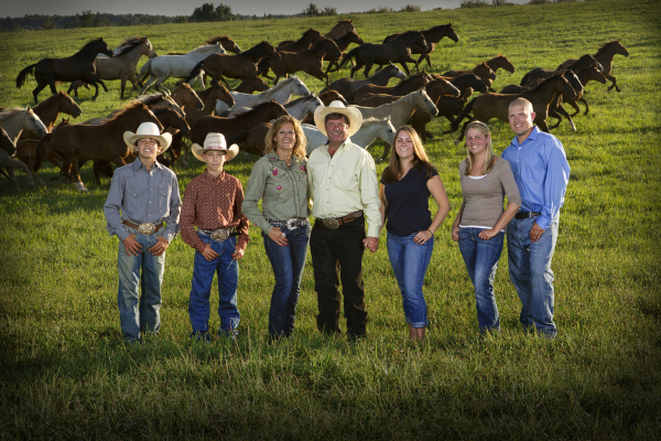 On-location Family Portrait with Horses