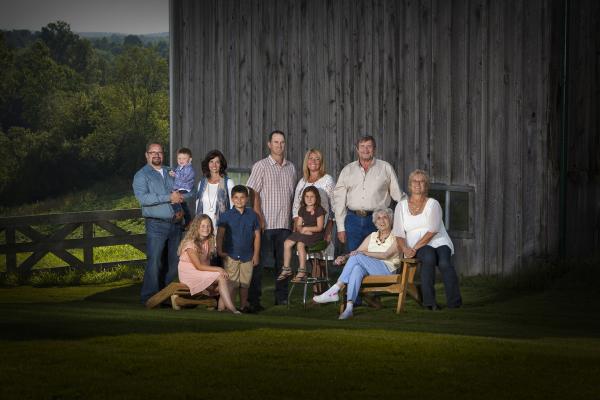 on-location family portrait