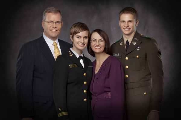 Studio Portrait of Military Family