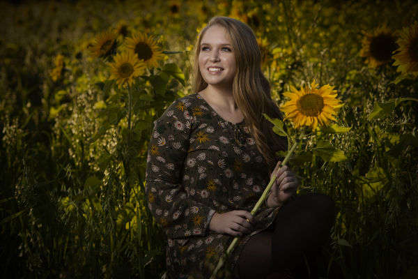 Field of Sunflowers Senior Photo