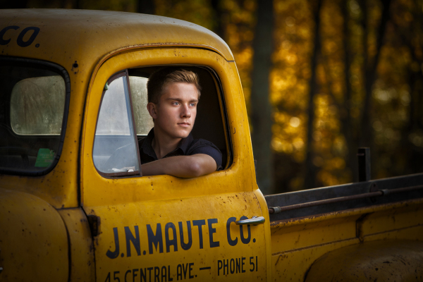 Antique Car Senior Portrait