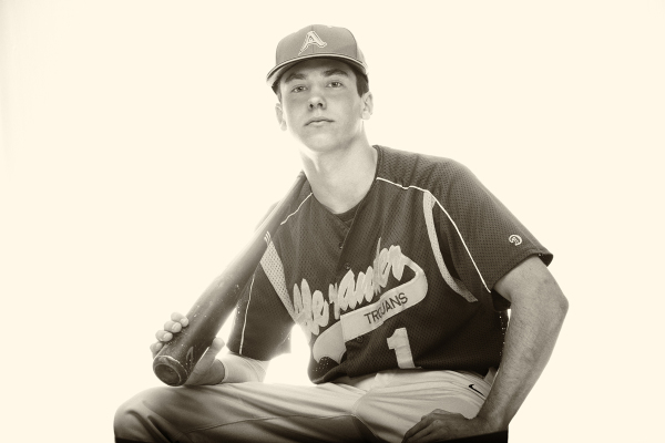 Baseball Player Senior Portrait