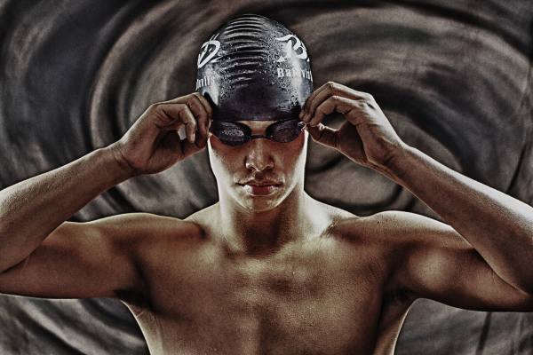 swimmer senior portrait