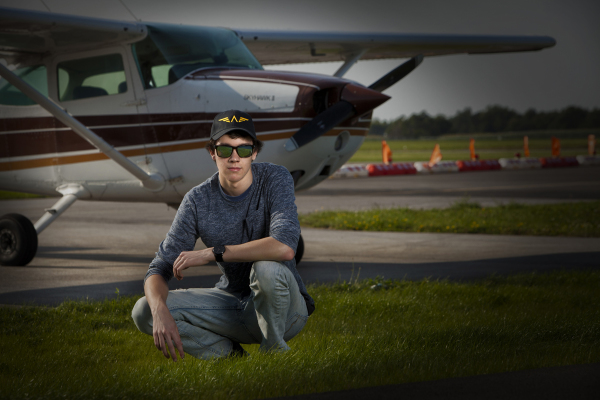 pilot airplane airport senior photo