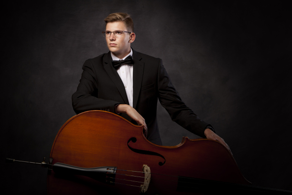 studio senior portrait session musician