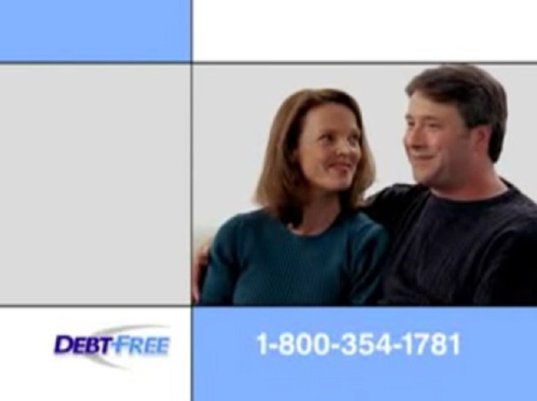 In a television commercial for Debt Free