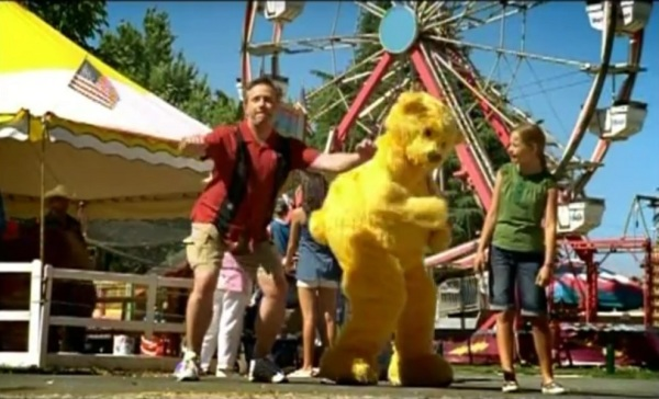In a television commercial for the California State Fair