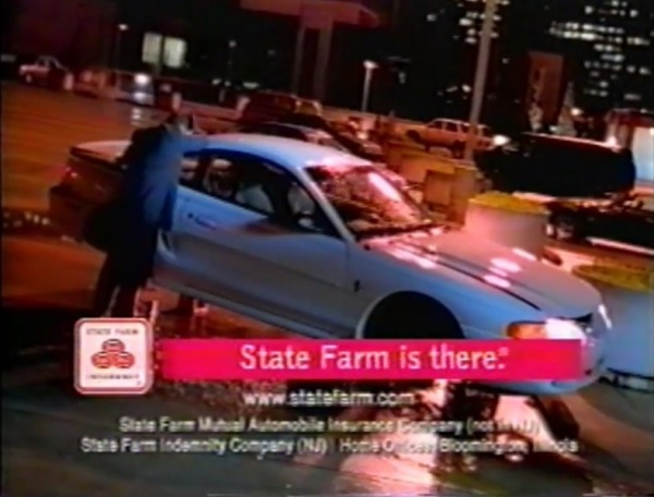 In a television commercial for State Farm Insurance