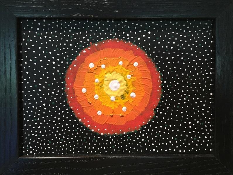 art, painting, acrylic, Geoff Fiorito, Jeff Fiorito, Under Your Eyelids series, Trouble