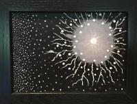 art, painting, acrylic, Geoff Fiorito, Jeff Fiorito, Under Your Eyelids series, Past Life