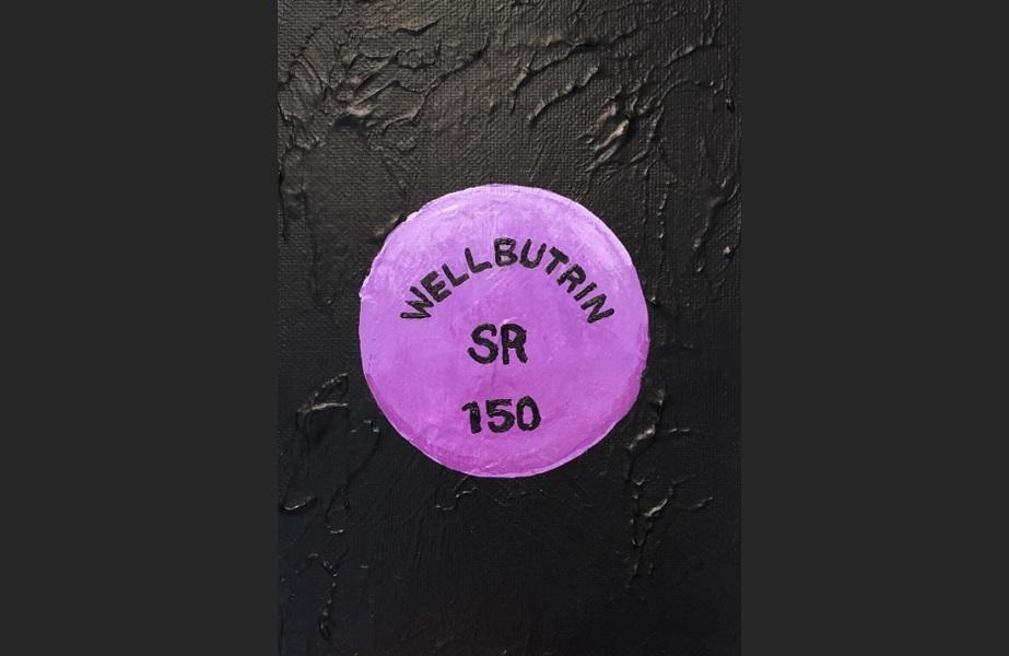 art, painting, acrylic, Geoff Fiorito, Jeff Fiorito, Pills series, Wellbutrin