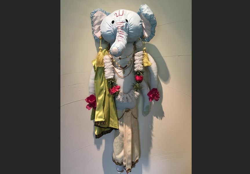 art, soft sculpture, fabric, mixed media, Geoff Fiorito, Jeff Fiorito, Lord Ganesha