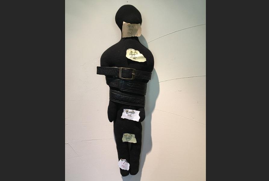 art, soft sculpture, fabric, mixed media, Geoff Fiorito, Jeff Fiorito, Schoolchild series, The New Kid