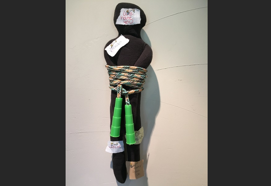 art, soft sculpture, fabric, mixed media, Geoff Fiorito, Jeff Fiorito, Schoolchild series, Recess