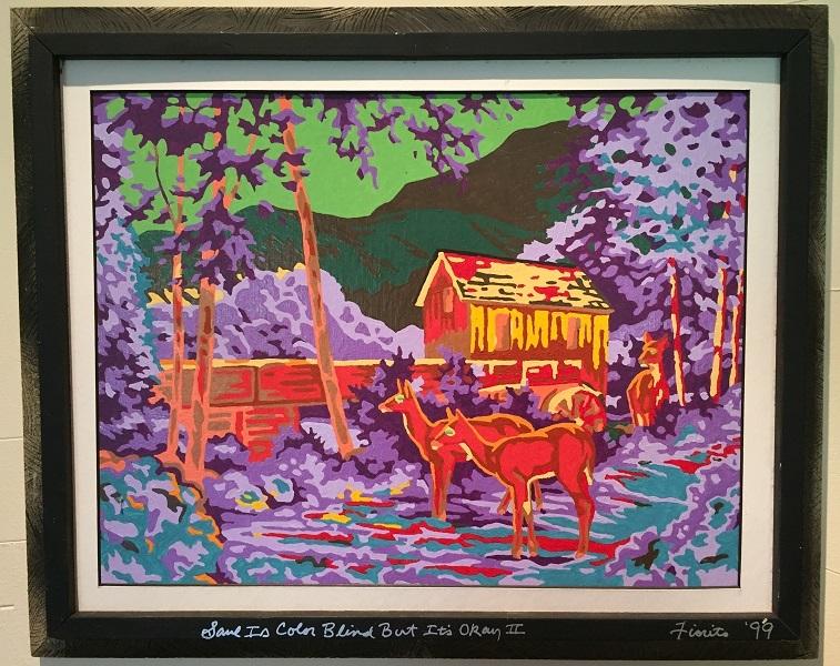 art, painting, acrylic, Geoff Fiorito, Jeff Fiorito, Saul Is Color Blind But It's Okay II