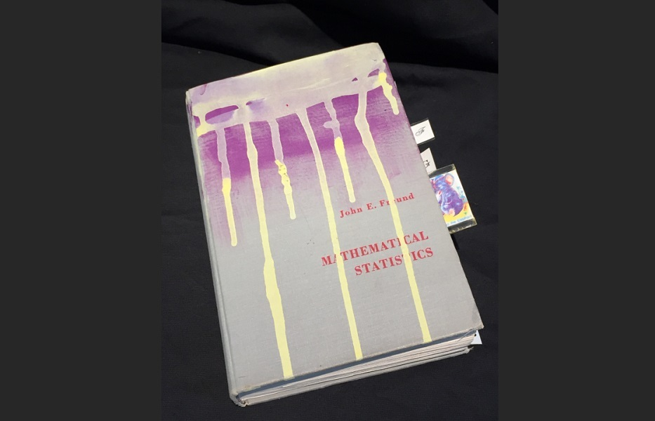 art, book, collage, mixed media, Geoff Fiorito, Jeff Fiorito, Mathematical Statistics