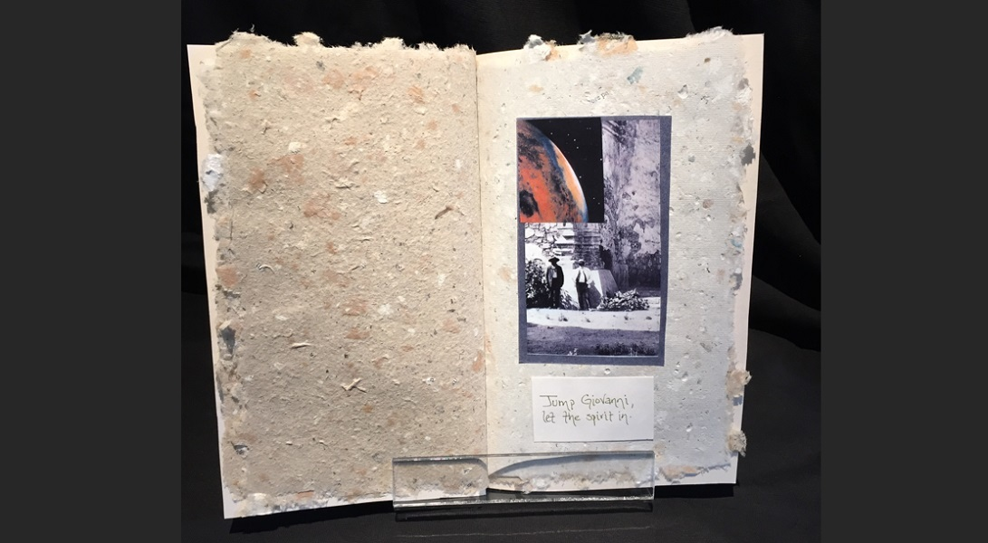 art, book, collage, mixed media, Geoff Fiorito, Jeff Fiorito, A Handbook for the Cycle of the Last Days, handmade paper