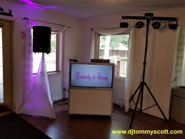 DJ Booth With TV