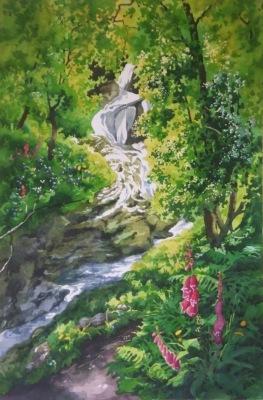 Poulanass waterfall