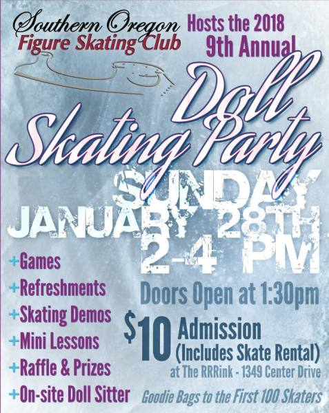 Doll Skating Party flyer