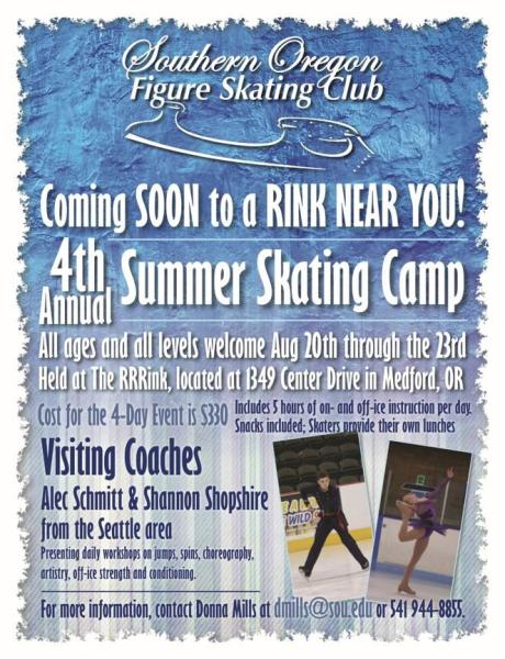 Summer Skating Camp flyer