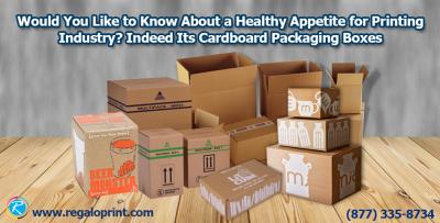 Cardboard packaging box printing