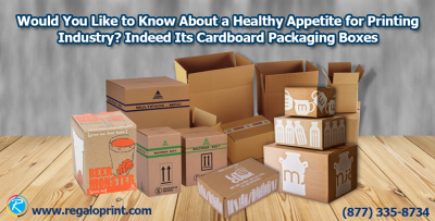 Cardboard packaging box printing