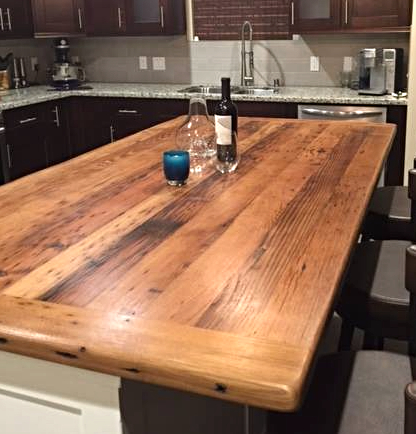 Barn Wood Kitchen Island