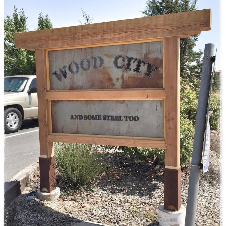 Wood City Sign