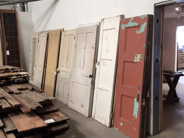 Salvaged house doors
