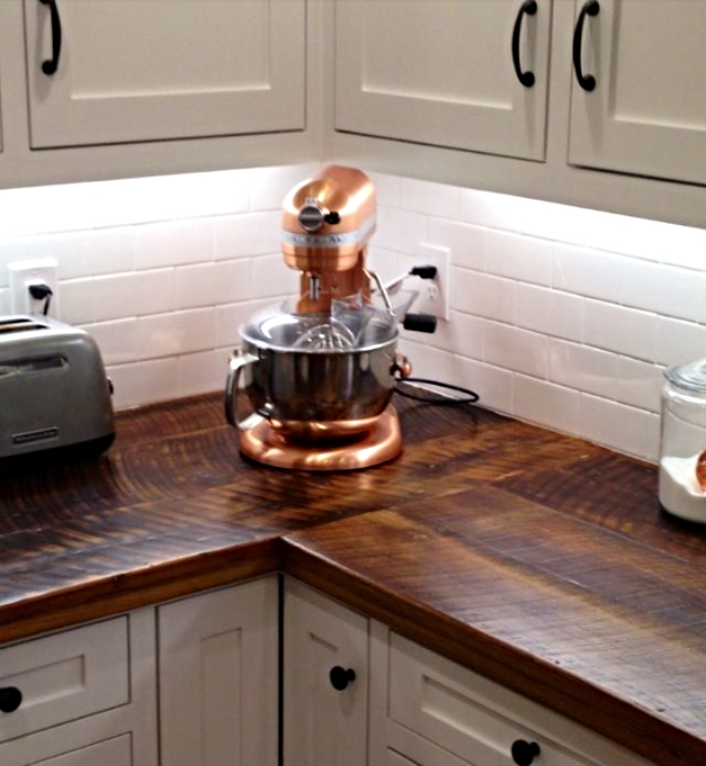 barn wood kitchen counter