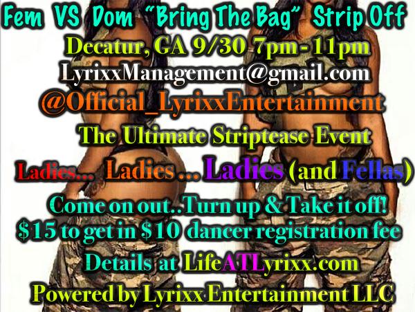 Fem Vs Dom Striptease Event