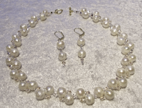Freshwater Pearl & Crystal Necklace Set