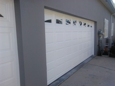 Exterior Garage Door Painting complete