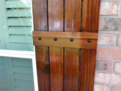 Rustic Shutters with High UV Coating