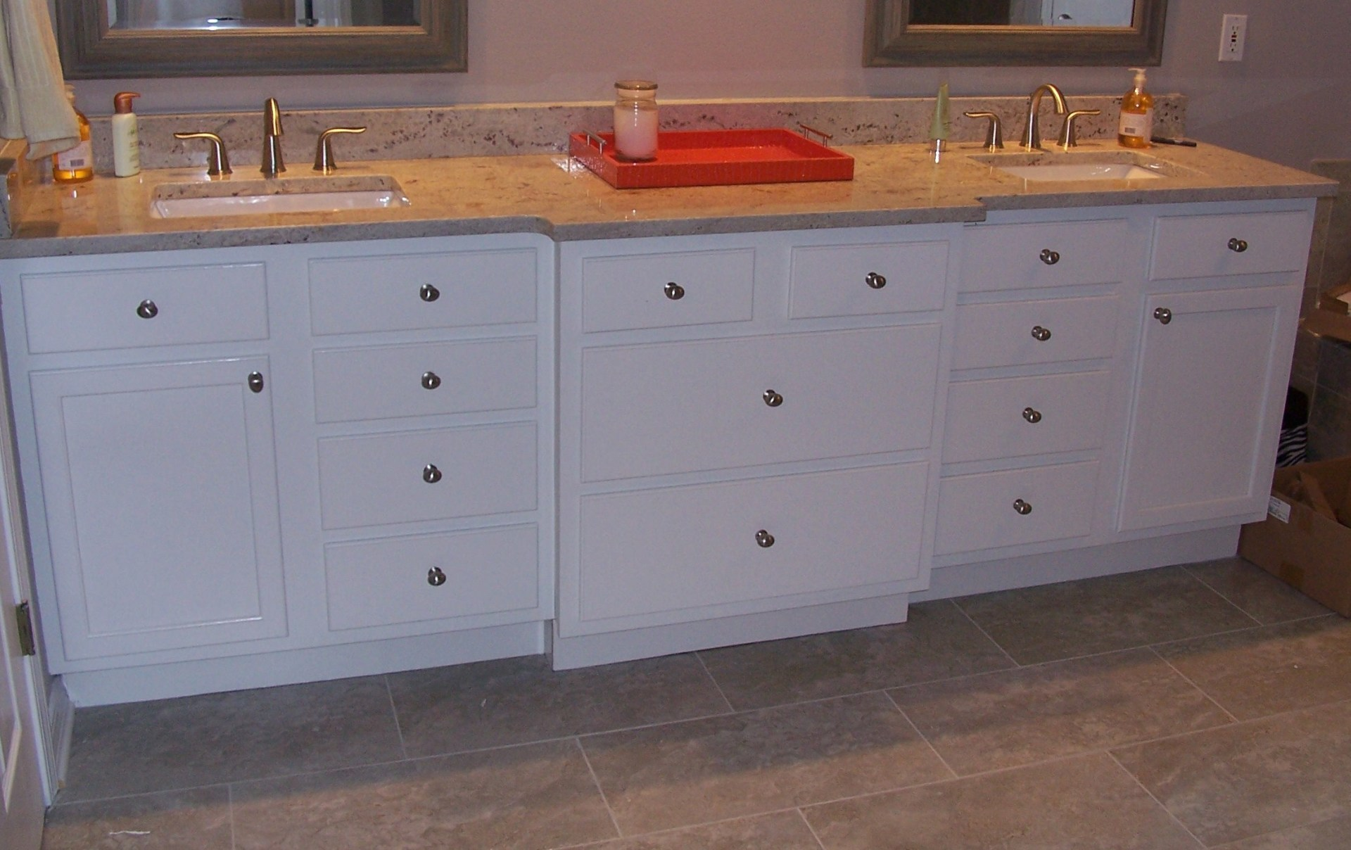 Higher Vanity tops in Bathrooms