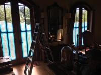 Dark Stain door repair