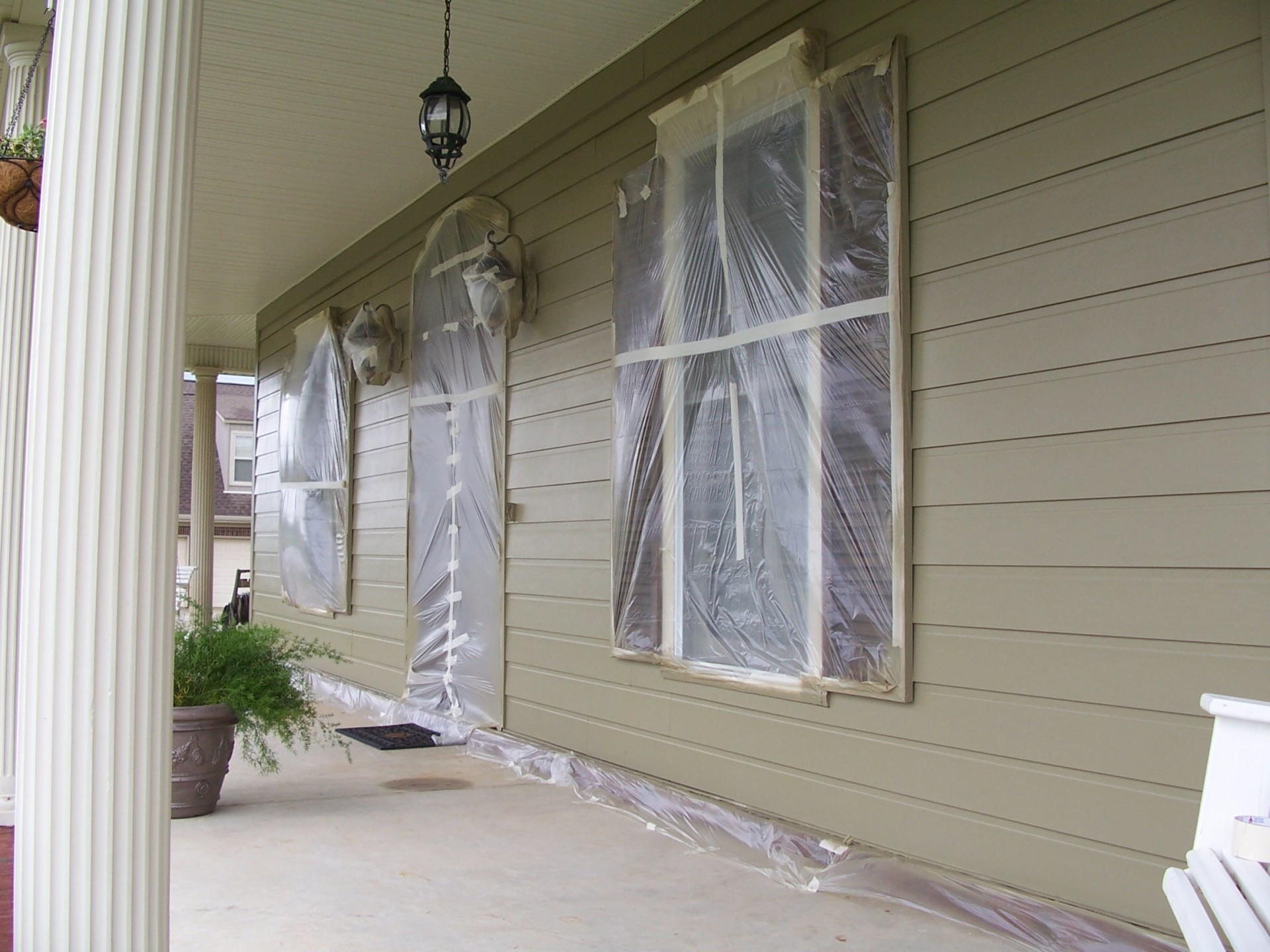 Exterior painting - before