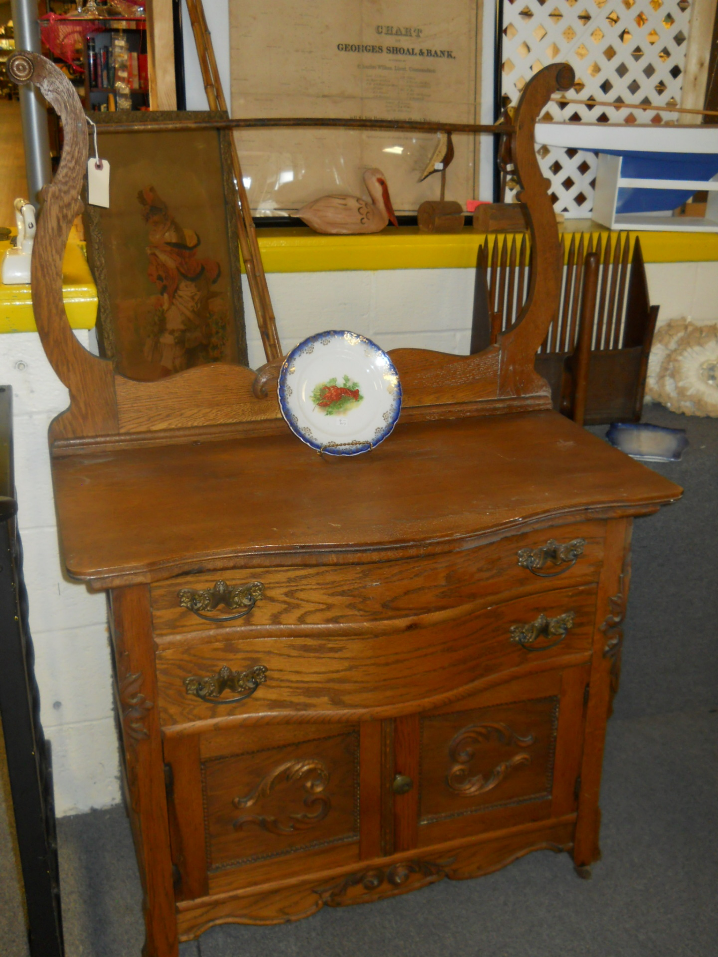 D7 Oak Washstand $150
