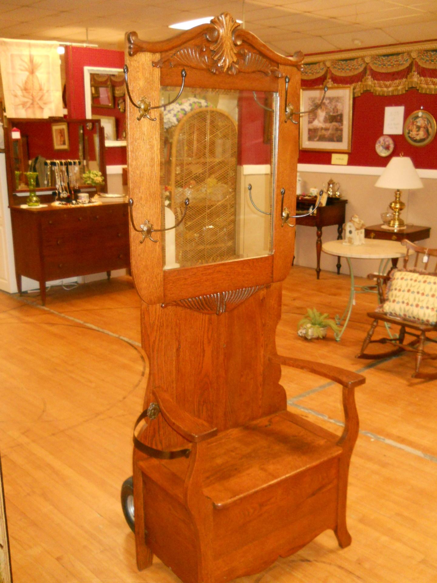 D15 Oak Hall Tree $550
