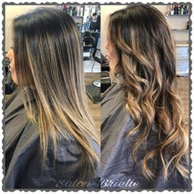 Brown and Caramel Balayage